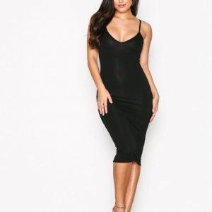 Missguided Cami Strap Bodycon Dress Kotelomekko Black