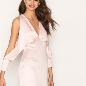 Missguided Cold Shoulder Split Sleeve Shift Dress Loose Fit Mekko Pink