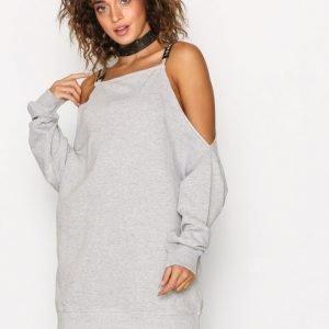 Missguided Cold Shoulder Sweat Dress Mekko Grey