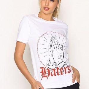 Missguided Corset Back T-Shirt T-Paita White