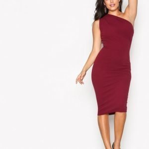 Missguided Crepe One Shoulder Dress Kotelomekko Burgundy