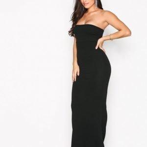 Missguided Crepe Sleeveless Dress Maksimekko Black
