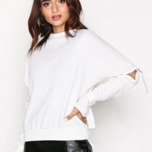 Missguided Cut Out Knitted Jumper Neulepusero Cream