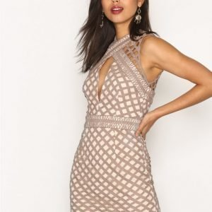 Missguided Cut Out Sleeveless Bodycon Dress Kotelomekko Mauve