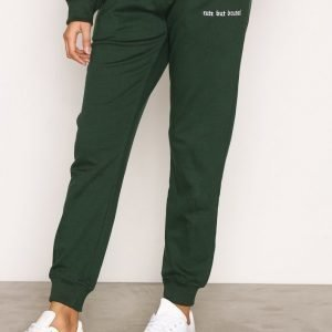 Missguided Cute But Brutal Joggers Housut Green