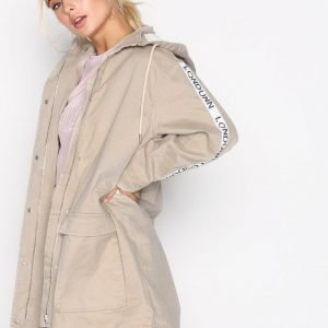 Missguided Ecru Parka Parkatakki Cream