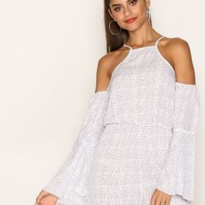 Missguided Flare Sleeve Cold Shoulder Playsuit White