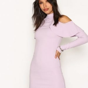 Missguided Frill Cold Shoulder Dress Kotelomekko Mauve