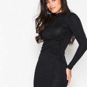 Missguided High Neck Dress Kotelomekko Black