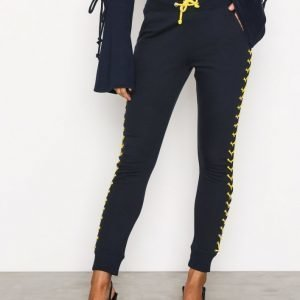 Missguided Lace Up Side Joggers Housut Navy