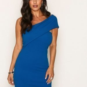 Missguided One Shoulder Dress Kotelomekko Blue