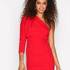 Missguided Plated One Shoulder Dress Kotelomekko Red