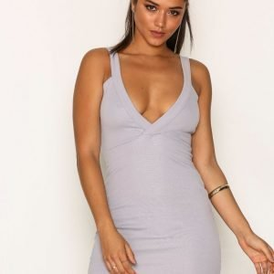 Missguided Plunge Bodycon Dress Kotelomekko Grey