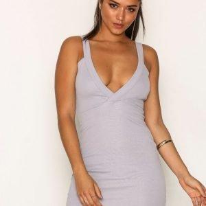 Missguided Plunge Bodycon Dress Kotelomekko Grey
