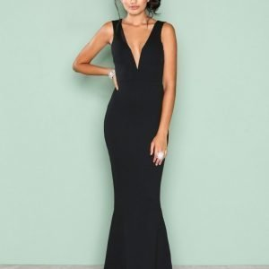 Missguided Plunge Maxi Dress Maksimekko Black