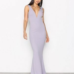 Missguided Plunge Maxi Dress Maksimekko Grey