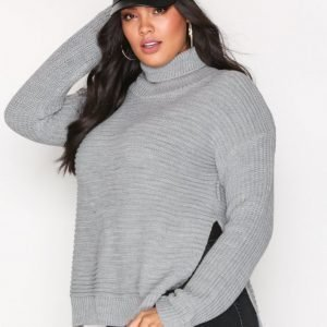 Missguided Roll Neck Knitted Jumper Neulepusero Grey