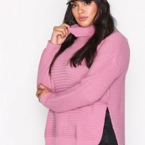 Missguided Roll Neck Knitted Jumper Neulepusero Pink