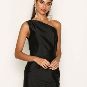 Missguided Ruffle One Shoulder Bodycon Dress Kotelomekko Black