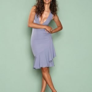 Missguided Sleeveless Ruffle Hem Midi Dress Maksimekko Blue