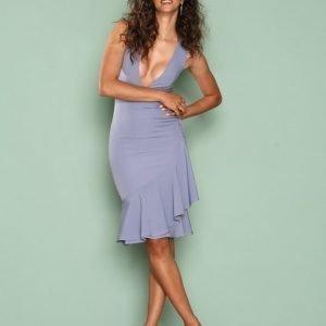 Missguided Sleeveless Ruffle Hem Midi Dress Maksimekko Blue