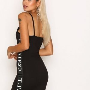 Missguided Strappy Bodycon Dress Kotelomekko Black