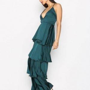 Missguided Strappy Layered Dress Maksimekko Green