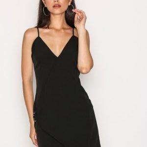 Missguided Strappy Wrap Detail Shift Dress Kotelomekko Black