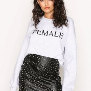 Missguided Stud Faux Leather Mini Skirt Minihame Black