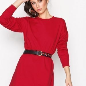 Missguided Sweater Dress Loose Fit Mekko Red
