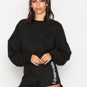 Missguided Tie Waist Runner Shorts Shortsit Black