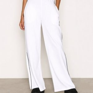 Missguided Wide Leg Sweat Pant Housut White
