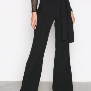 Missguided Wide Leg Trousers Housut Black