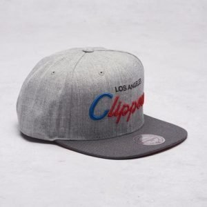 Mitchell & Ness LA Clippers Snapback Grey