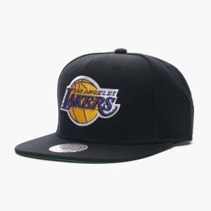 Mitchell & Ness Lakers Wool Solid Snapback
