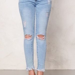 Mixed from Italy Acid Wash Ripped Jeans Light Blue