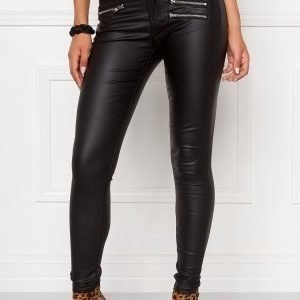 Mixed from Italy Coated Skinny Jeans Black