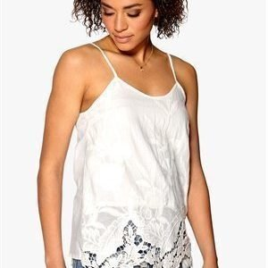 Mixed from Italy Cut-Out Emb Cami Top White 38
