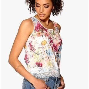 Mixed from Italy Daisy Print Chiffong Top Pink 38
