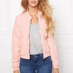 Mixed from Italy Front Zip Bomber Jacket Pink