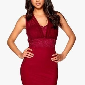 Model Behaviour Angela Lace Dress Wine-red