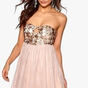 Model Behaviour Anna Dress Pink / Gold