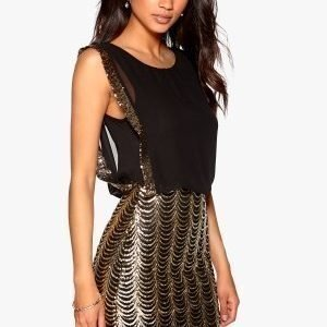 Model Behaviour Erika Dress Black / Gold
