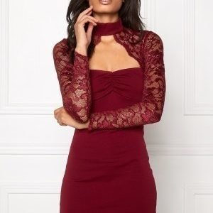 Model Behaviour Linda Dress Wine-red
