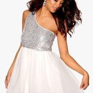 Model Behaviour Maria Dress Silver / White