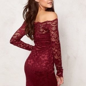 Model Behaviour Stina Dress Wine-red