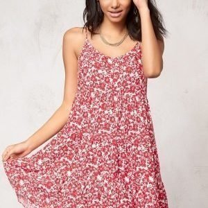 Model Behaviour Tyra Dress Red / White