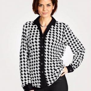 Mona Jerseypusero Musta / Valkoinen