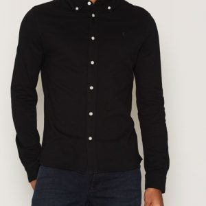 Morris Blake Piqué Shirt Kauluspaita Black