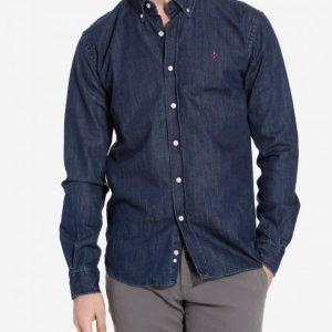 Morris Cary Grant Denim Shirt Kauluspaita Sininen